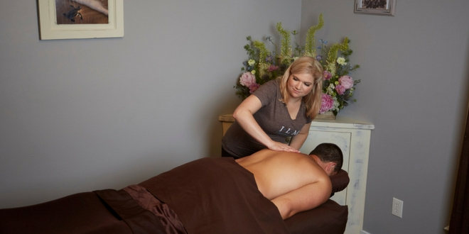 man getting a custom massage