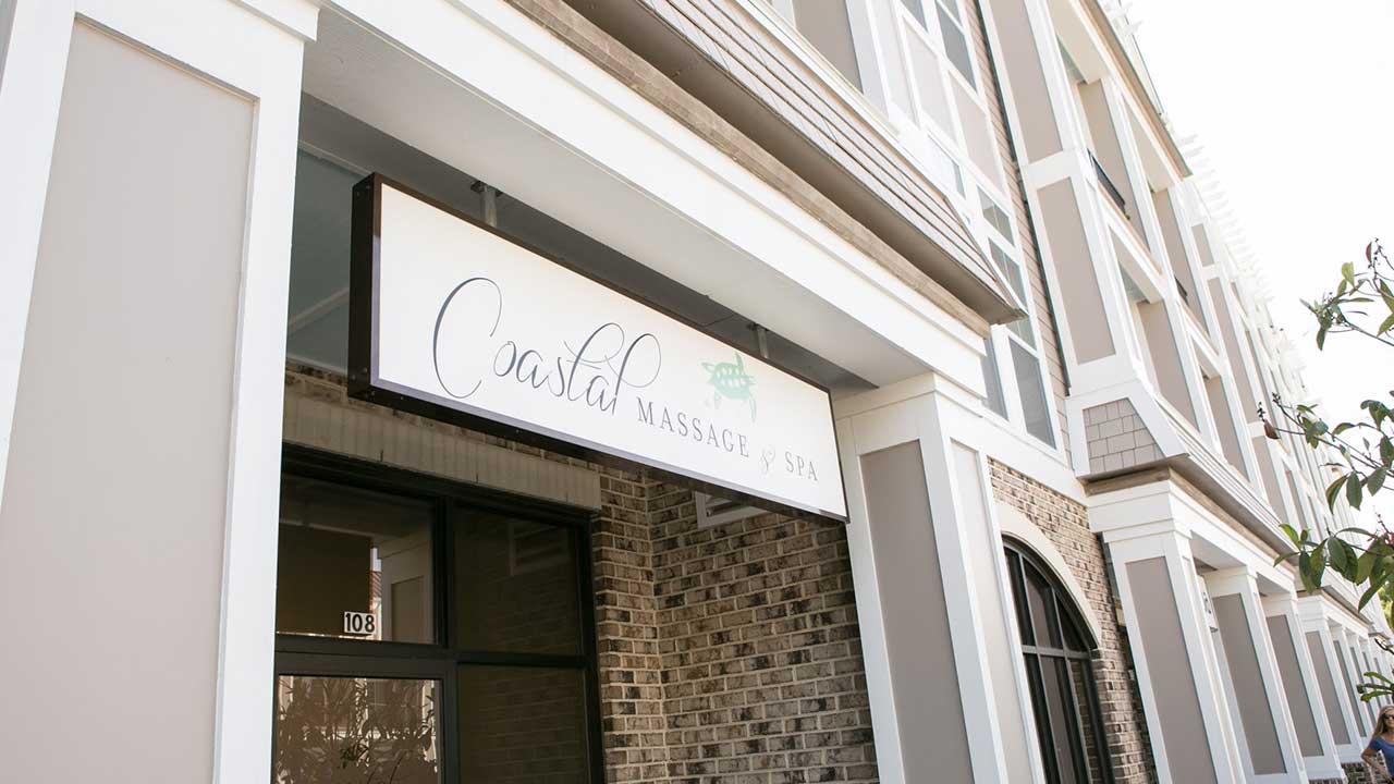 coastal massage spa entrance
